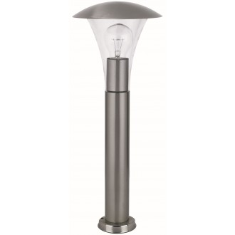 RABALUX 8312 | HelsinkiR Rabalux álló lámpa 48cm 1x E27 IP44 UV nemesacél, rozsdamentes acél, átlátszó