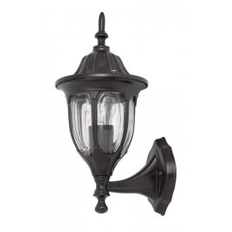 RABALUX 8342 | Milano1 Rabalux falikar lámpa 1x E27 IP43 fekete, átlátszó