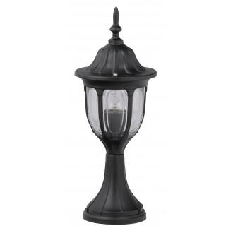 RABALUX 8343 | Milano1 Rabalux álló lámpa 43cm 1x E27 IP43 fekete, átlátszó