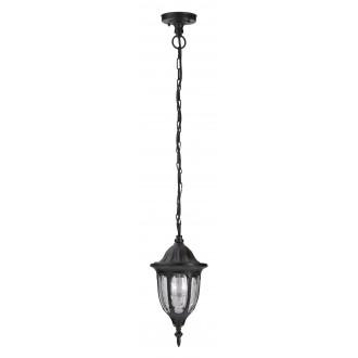 RABALUX 8344 | Milano1 Rabalux függeszték lámpa 1x E27 IP43 fekete, átlátszó