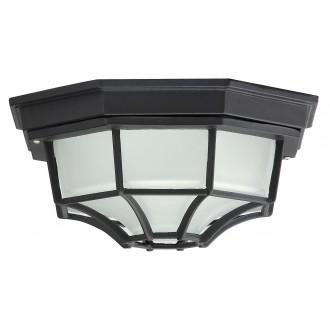 RABALUX 8346 | Milano1 Rabalux mennyezeti lámpa 1x E27 IP43 fekete, opál