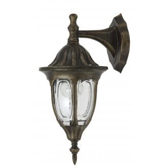 RABALUX 8371 | Milano Rabalux falikar lámpa 1x E27 IP43 antikolt arany, átlátszó