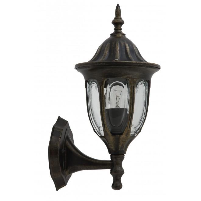 RABALUX 8372 | Milano Rabalux falikar lámpa 1x E27 IP43 antikolt arany, átlátszó