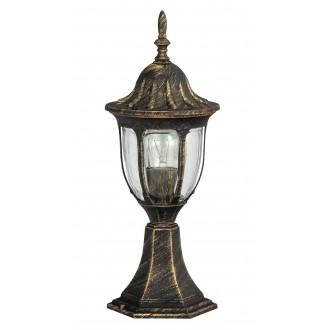 RABALUX 8373 | Milano Rabalux álló lámpa 43cm 1x E27 IP43 antikolt arany, átlátszó