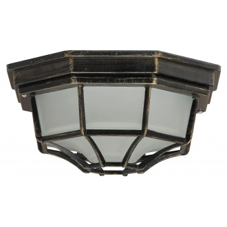 RABALUX 8376 | Milano Rabalux mennyezeti lámpa 1x E27 IP43 antikolt arany, opál