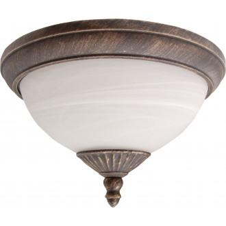 RABALUX 8377 | Madrid Rabalux mennyezeti lámpa 2x E27 IP43 antikolt arany, fehér alabástrom