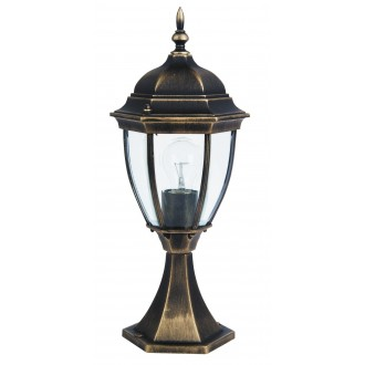 RABALUX 8383 | TorontoR Rabalux álló lámpa 49,5cm 1x E27 IP44 antikolt arany, átlátszó