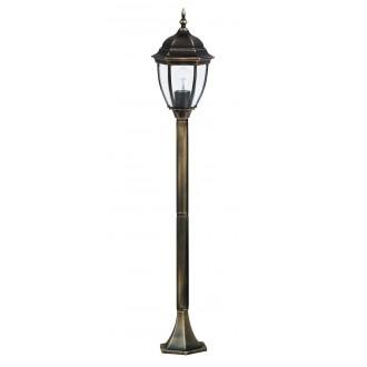 RABALUX 8385 | TorontoR Rabalux álló lámpa 113cm 1x E27 IP44 antikolt arany, átlátszó