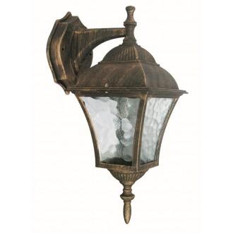 RABALUX 8391 | Toscana Rabalux falikar lámpa 1x E27 IP43 antikolt arany, áttetsző