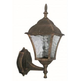 RABALUX 8392 | Toscana Rabalux falikar lámpa 1x E27 IP43 antikolt arany, áttetsző