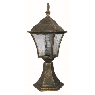 RABALUX 8393 | Toscana Rabalux álló lámpa 41,5cm 1x E27 IP43 antikolt arany, áttetsző