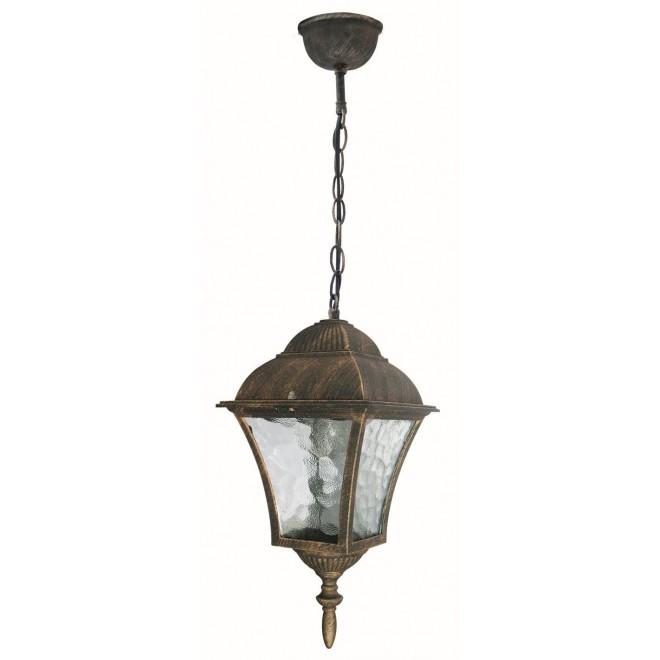 RABALUX 8394 | Toscana Rabalux függeszték lámpa 1x E27 IP43 antikolt arany, áttetsző