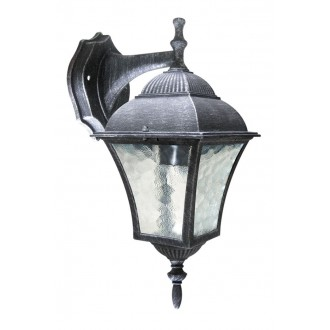 RABALUX 8396 | Toscana Rabalux falikar lámpa 1x E27 IP43 antikolt ezüst, áttetsző