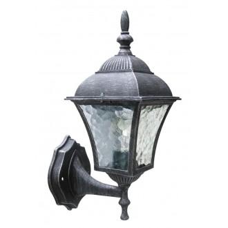 RABALUX 8397 | Toscana Rabalux falikar lámpa 1x E27 IP43 antikolt ezüst, áttetsző