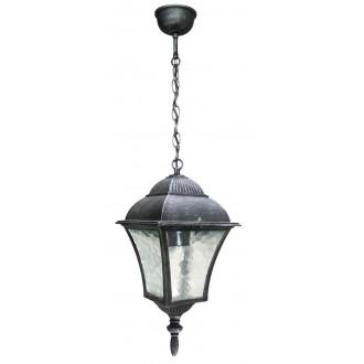 RABALUX 8399 | Toscana Rabalux függeszték lámpa 1x E27 IP43 antikolt ezüst, áttetsző