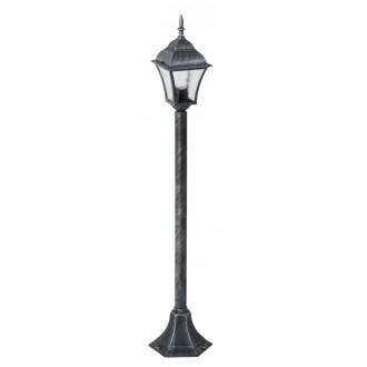 RABALUX 8400 | Toscana Rabalux álló lámpa 106cm 1x E27 IP43 antikolt ezüst, áttetsző