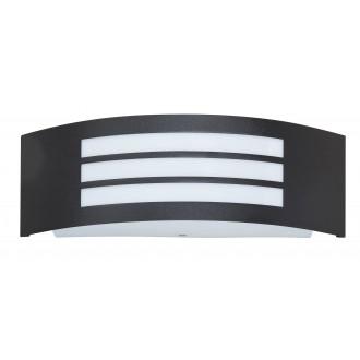RABALUX 8409 | Roma Rabalux fali lámpa 1x E27 IP44 UV matt fekete