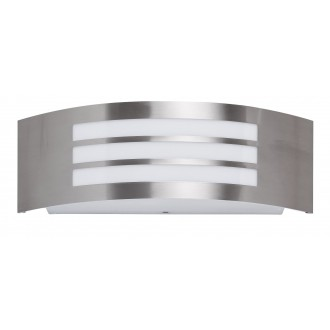 RABALUX 8410 | Roma Rabalux fali lámpa 1x E27 IP44 UV nemesacél, rozsdamentes acél