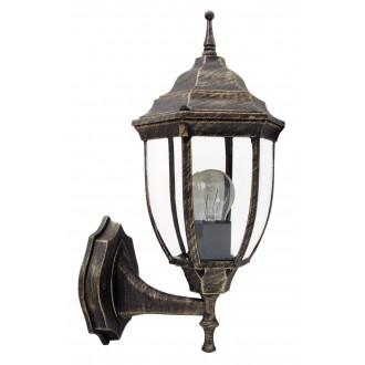 RABALUX 8452 | Nizza Rabalux falikar lámpa 1x E27 IP43 antikolt arany, átlátszó