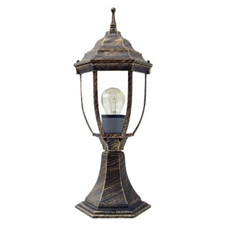 RABALUX 8453 | Nizza Rabalux álló lámpa 41,5cm 1x E27 IP43 antikolt arany, átlátszó