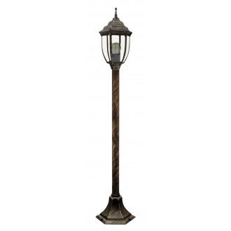 RABALUX 8455 | Nizza Rabalux álló lámpa 104,5cm 1x E27 IP43 antikolt arany, átlátszó