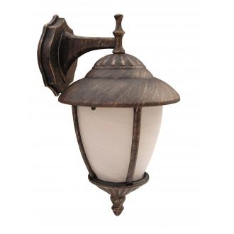 RABALUX 8476 | Madrid Rabalux falikar lámpa 1x E27 IP43 antikolt arany, fehér alabástrom