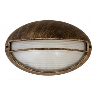 RABALUX 8496 | Hektor Rabalux fali lámpa 1x E27 IP54 antikolt arany, fehér