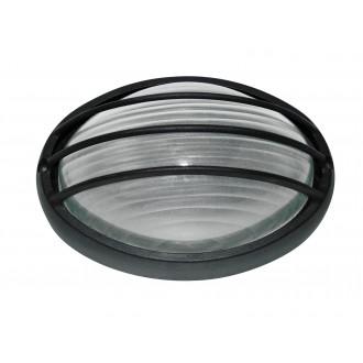 RABALUX 8498 | Hektor Rabalux fali, mennyezeti lámpa 1x E27 IP54 fekete, fehér