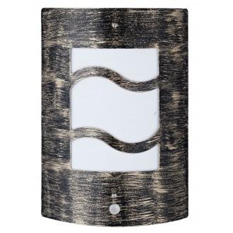 RABALUX 8518 | DenverR Rabalux fali lámpa mozgásérzékelő 1x E27 IP44 UV antikolt arany, fehér