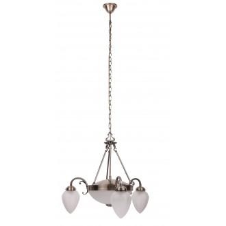 RABALUX 8533 | Maya Rabalux csillár lámpa 3x E14 + 2x E27 bronz, opál