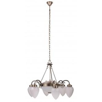 RABALUX 8536 | Maya Rabalux csillár lámpa 6x E14 + 2x E27 bronz, opál