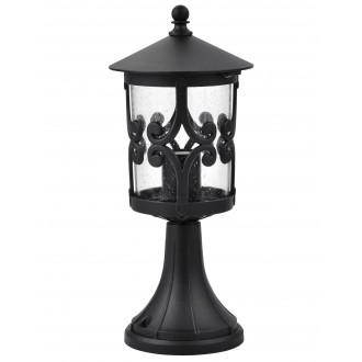 RABALUX 8537 | PalmaR Rabalux álló lámpa 36,6cm 1x E27 IP23 fekete, átlátszó