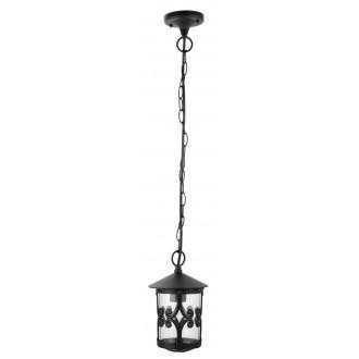 RABALUX 8538 | PalmaR Rabalux függeszték lámpa 1x E27 IP23 fekete, átlátszó
