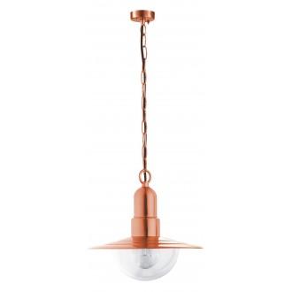 RABALUX 8545 | Tallinn Rabalux függeszték lámpa 1x E27 IP44 UV vörösréz, átlátszó