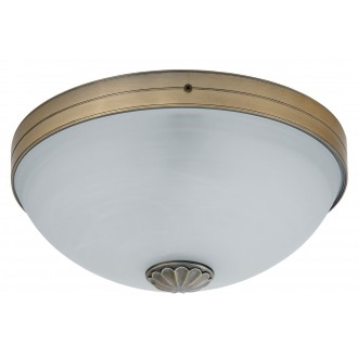 RABALUX 8558 | Orchidea Rabalux mennyezeti lámpa 2x E27 bronz, fehér alabástrom