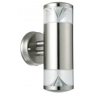 RABALUX 8560 | CharlotteR Rabalux falikar lámpa 2x GU10 680lm 3000K IP44 UV nemesacél, rozsdamentes acél