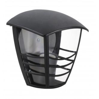 RABALUX 8570 | Marseille Rabalux fali lámpa 1x E27 IP44 UV fekete, átlátszó