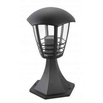 RABALUX 8619 | Marseille Rabalux álló lámpa 29,7cm 1x E27 IP44 UV fekete, átlátszó