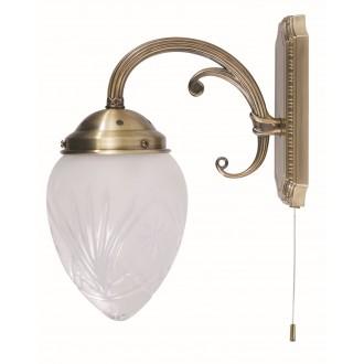 RABALUX 8631 | Annabella Rabalux falikar lámpa húzókapcsoló 1x E14 bronz, átlátszó