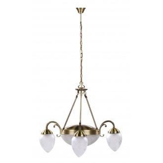 RABALUX 8633 | Annabella Rabalux csillár lámpa 3x E14 + 2x E27 bronz, átlátszó