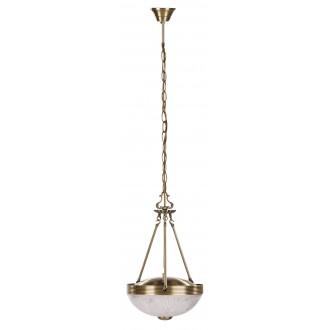 RABALUX 8637 | Annabella Rabalux függeszték lámpa 2x E27 bronz, átlátszó