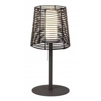 RABALUX 8649 | Knoxville Rabalux asztali lámpa 51cm húzókapcsoló 1x E27 IP44 UV fekete, barna, fehér