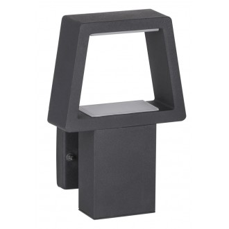 RABALUX 8667 | ArizonaR Rabalux fali lámpa 1x LED 900lm 3000K IP44 antracit