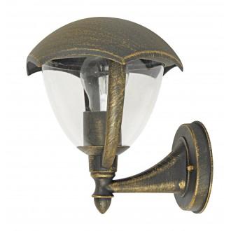 RABALUX 8671 | Miami Rabalux falikar lámpa 1x E27 IP44 UV antikolt arany, fehér