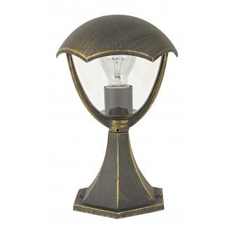 RABALUX 8672 | Miami Rabalux álló lámpa 31cm 1x E27 IP44 UV antikolt arany, fehér