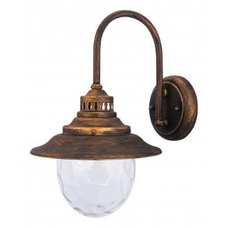 RABALUX 8677   Barcelona Rabalux falikar lámpa 1x E27 IP43 antikolt arany, átlátszó