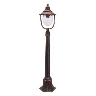 RABALUX 8679 | Barcelona Rabalux álló lámpa 108cm 1x E27 IP43 antikolt arany, átlátszó