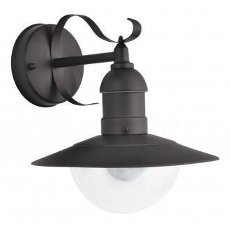 RABALUX 8680   OsloR Rabalux falikar lámpa 1x E27 IP44 UV matt fekete, átlátszó