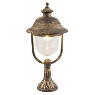 RABALUX 8698 | NewYork-XXL Rabalux álló lámpa 53,8cm 1x E27 IP44 UV antikolt arany, átlátszó