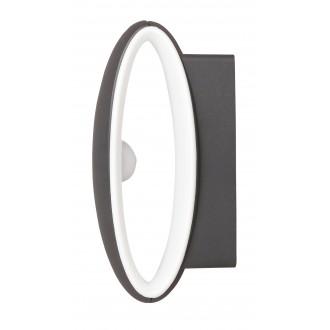 RABALUX 8705 | Bristol Rabalux fali lámpa 1x LED 810lm 4000K IP54 UV antracit, fehér